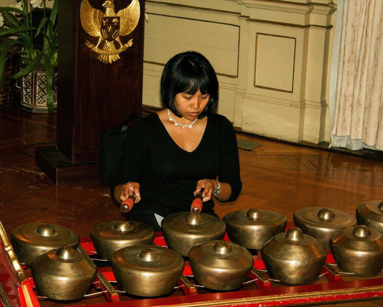 Indonesian musical instrument gamelan